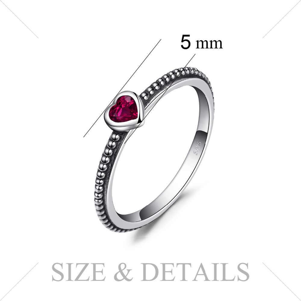 JPalaceหัวใจแก้วสีแดงMuranoแหวน 925 เงินสเตอร์ลิงแหวนเงินผู้หญิงแหวนวงเงิน 925 เครื่องประดับFineเครื่องประดับ