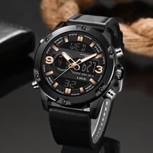 2019 LIGE New Mens Fashion Sport Watch Men Black Leather Waterproof Quartz Watches Male Date LED Analog Clock Relogio Masculino