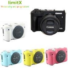 LimitX Silicone armure coque peau protection du corps pour Canon EOS M6 appareil photo numérique