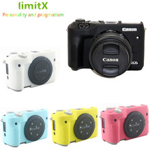 Limitx Silicone Giáp Lưng Da Cơ Thể Bao Da Bảo Vệ Cho Canon EOS M6 Máy Ảnh Kỹ Thuật Số