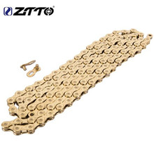 ZTTO MTB Mountain Bike Road Bicycle Parts High Quality Durable Gold Golden Chain 10s 20s 30s 10 Speed for K7 System
