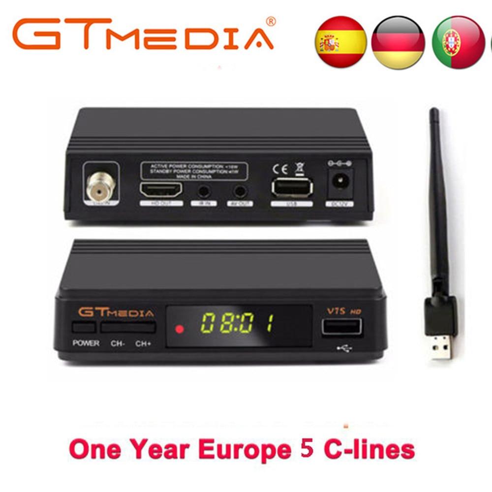 Heißer verkauf Satellite TV Empfänger Gtmedia V7S HD Rezeptor Unterstützung Europa Cline für Spanien DVB S2 Satellite Decoder Freesat V7 HD-in Satelliten-TV-Receiver aus Verbraucherelektronik bei  Gruppe 1