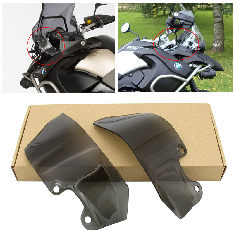 Transparent/ Smoke Motorcycle Windshield Windscreen Ventilation Plate Side Panels For R1200GS 2004-2012 R 1200 GS 04-12