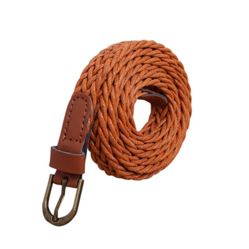 Nueva moda para mujer cinturón corto tejido colores caramelo Hamp cuerda trenza cinturón femenino para vestido Ceinture de alta calidad Mujer