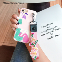 Cartoon Flower Colorful Flamingo Phone Case For IPhone 6 6S 7 Plus 4 7 5 5