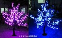 1,2 м высота 110/220 В переменного тока светодиодный свет вишневого цвета Дерево непромокаемый открытый Свадебный Сад праздник Свет Декор 360 све