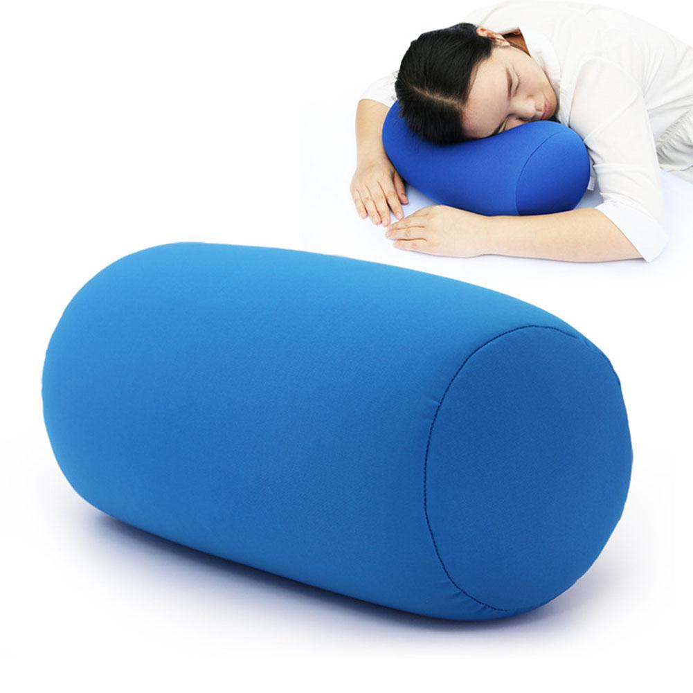 AsyPets Solid Color Round Cervical Pillow Bed Roll Cushion Head Leg Back