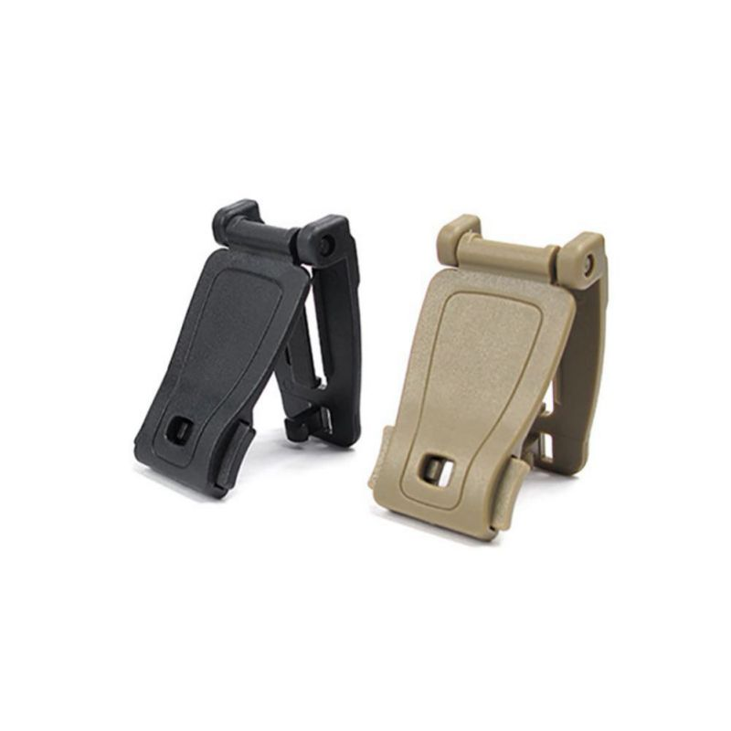 2pcs Strong Clip Buckles Molle System Bag Backpack Strap Connecter Buckles Kits Camping Hiking Mountain Climbing EDC Tools