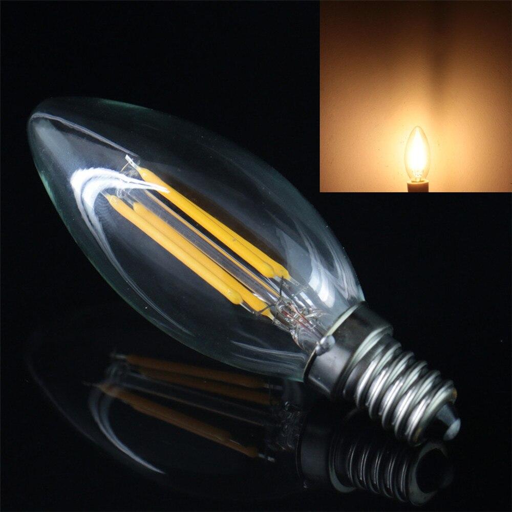 Продажи Инноваций Лампы E14 COB Заостренные Формы 4 Вт Накаливания Свет вольфрама Ретро Лампы 400lm Теплый Белый/Белый Лампы ПЕРЕМЕННОГО ТОКА 220 В