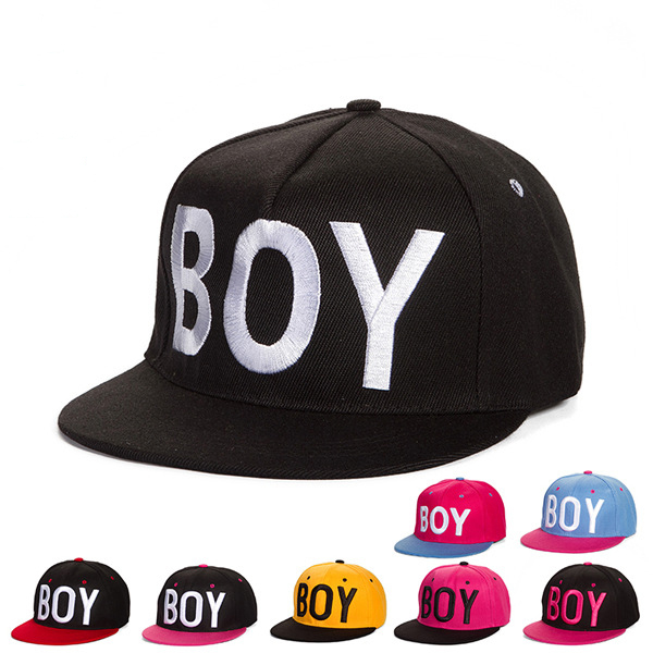 2016 New Hot Cap BOY Letters Decorate Baseball Hats Hip Hop Snapback Hats  for Men And Women Summer Flat Brimmed Caps Snapback a186ae4d6e3