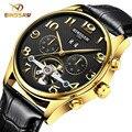 BINSSAW homens relógios de marcas de luxo luxury business casual moda sport watch tourbillon automatic relógios mecânicos Relogio