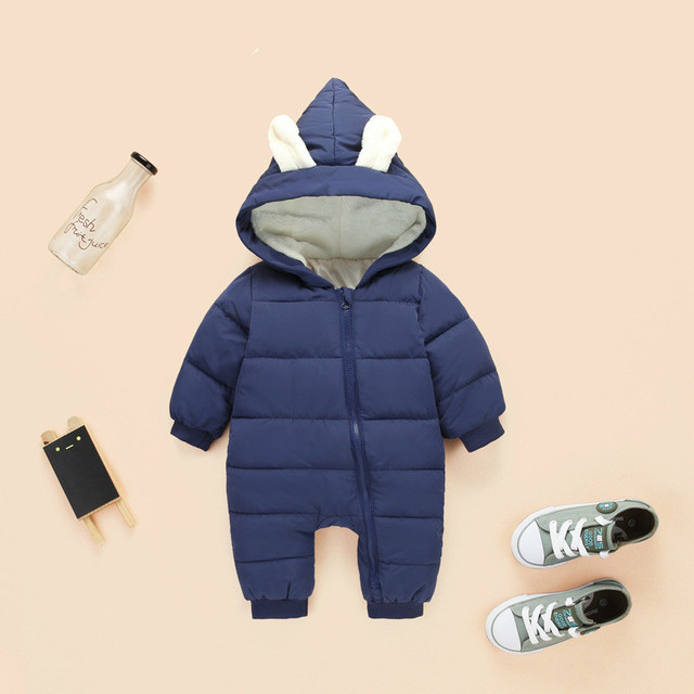 3e83e21af 2018 spring Winter Jumpsuit Baby Newborn snowsuit Snow Wear Coats ...