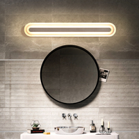 Loft Style vanity light for Bathroom Waterproof Acrylic Mirror Wall Light AC85 265V studio glow makeup light lamparas de pared