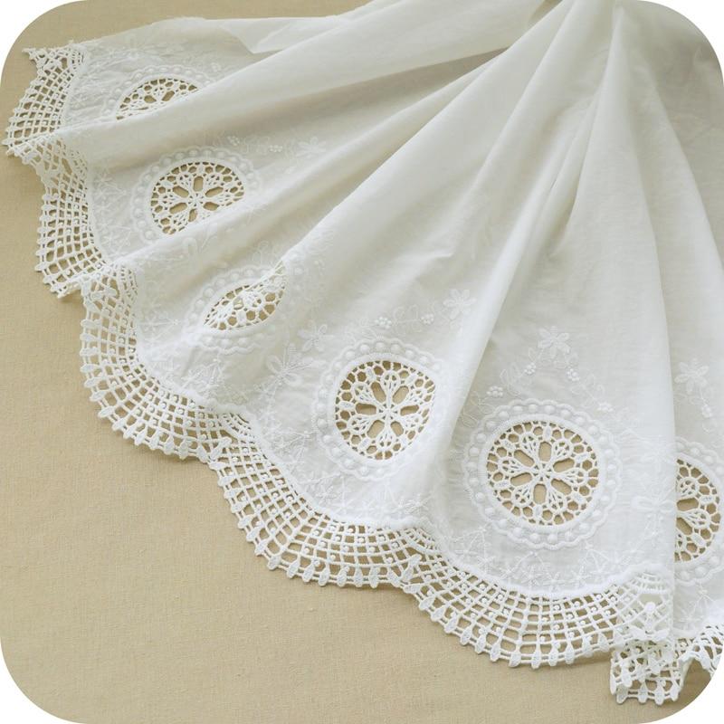 ᗛEnvío libre ropa bilaterales Bordado flor 100% algodón hecho a ...