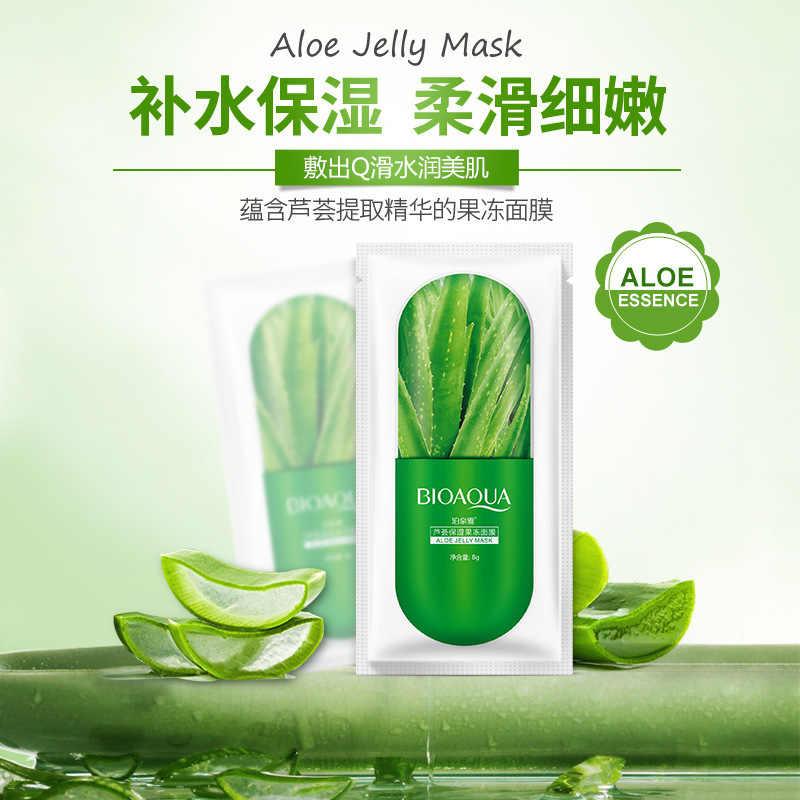 Vente chaude Aloe Vera gelée soins de la peau plante masque Facial hydratant contrôle de l'huile point noir solvant enveloppé masque visage masque soins du visage