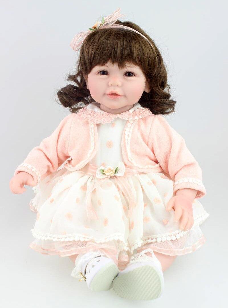 ộ_ộ ༽20 50 cm vinilo silicona reborn baby doll nueva princesa chica ...