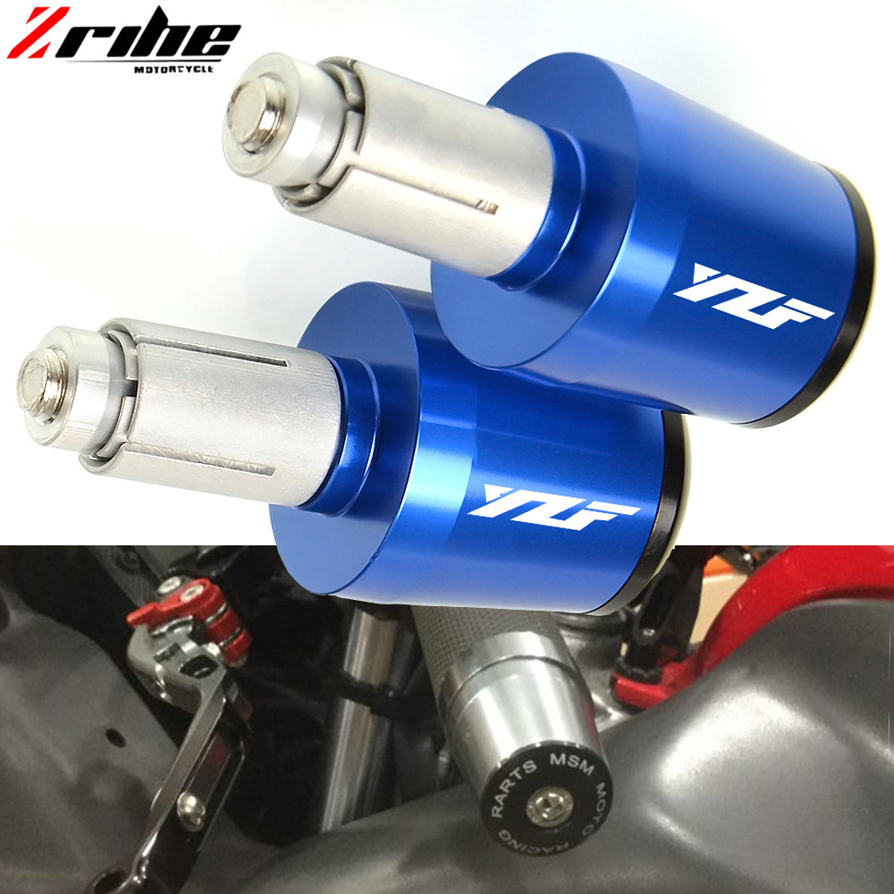 CNC 22MM Motorcycle Handlebar Grips Handle Bar Cap End Plugs For Yamaha YZF R1 YZF R6 YZFR6 YZF R125 YZFR15 R25 YZF R3