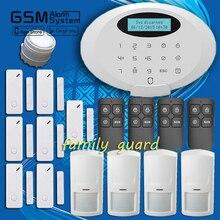 Бесплатная доставка! Семья гвардии ультра-тонких панели APP экрана беспроводная связь bluetooth GSM 4PIR + 7 дверной зазор между домашней безопасности охранной сигнализации