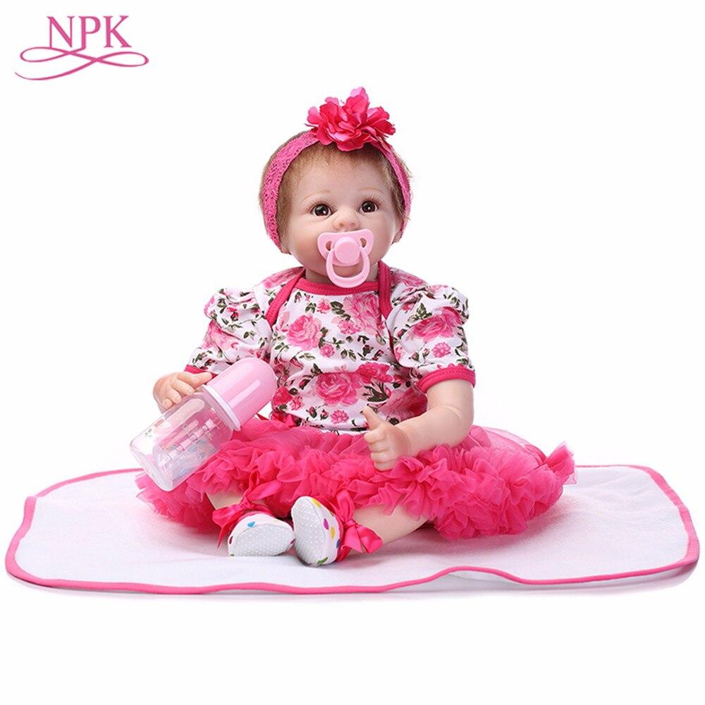 NPK 22 นิ้ว Reborn ตุ๊กตาของเล่นเด็กน่ารักเจ้าหญิง DIY ตุ๊กตาเด็ก Brinquedos ของขวัญเด็กมาพร้อมกับของเล่นตรัสรู้ตุ๊กตา-ใน ตุ๊กตา จาก ของเล่นและงานอดิเรก บน   1