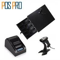 IPCD01 Cash Register Drawer 5 Coins 4 Bills Of The Cashbox 58mm Thermal Printer 1D Barcode