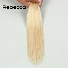 Rebecca Brazilian Virgin Hair Straight I-tip Brazillian Hair Extension Rebonded 613#  I Tip Human Hair Extension