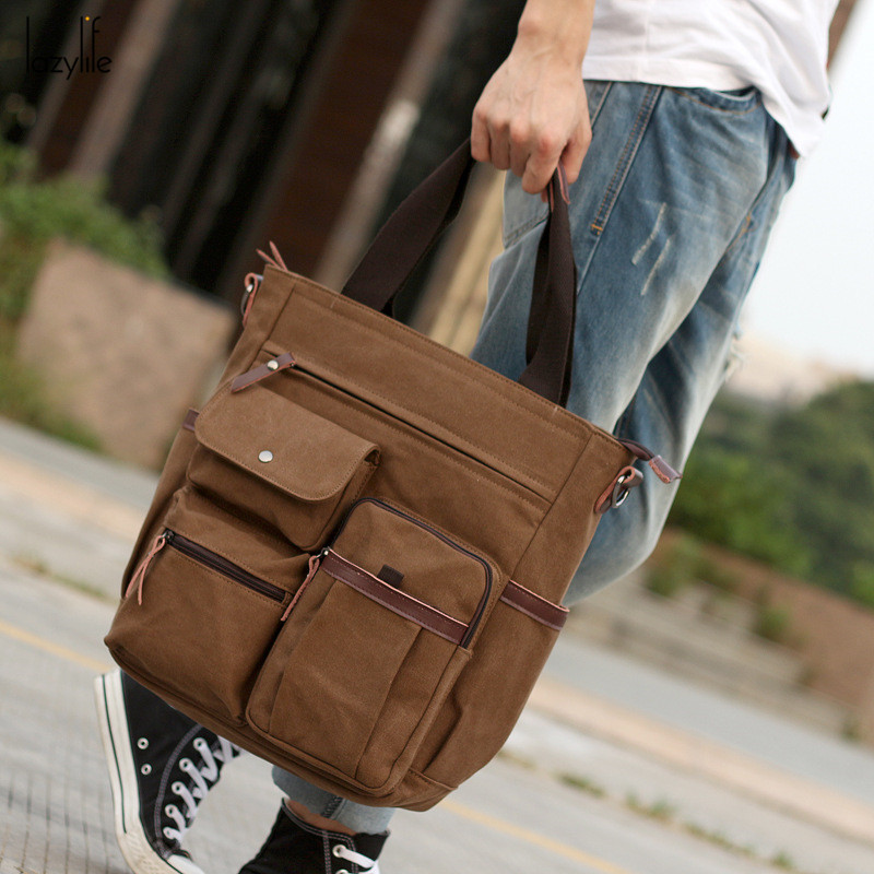 LAZYLIFE High Quality High Capacity Men Briefcase Man Bags Business Laptop Tote Bag Men s Crossbody
