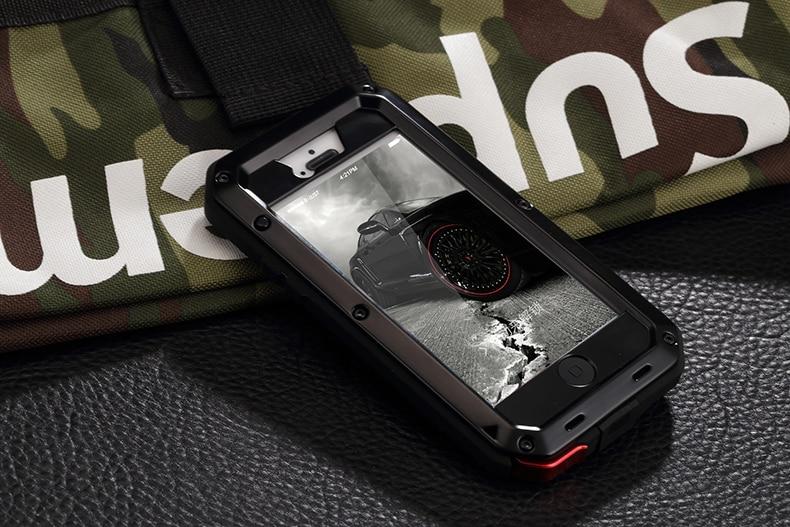 HTB1 r9ZeKOSBuNjy0Fdq6zDnVXat Heavy Duty Protection Doom armor Metal Aluminum phone Case for iPhone 11 Pro Max XR XS MAX 6 6S 7 8 Plus X 5S 5 Shockproof Cover