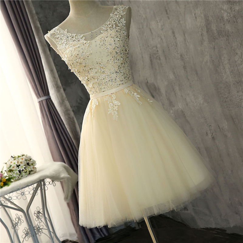 Bealegantom Short   Prom     Dresses   2018 Tulle Applique Homecoming Cocktail Party Special Occasion Gown Vestido Fiesta QA1534