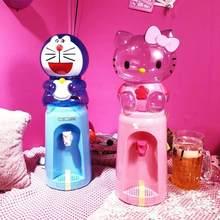 8 copos de água dos desenhos animados mini dispensador de água 2l material do produto comestível não pode aquecer refrigeração 45x14.5cm
