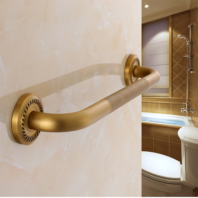 1pcs Copper antique bathroom handrails European style toilet elderly antiskid handle toilet bath handle цена 2017