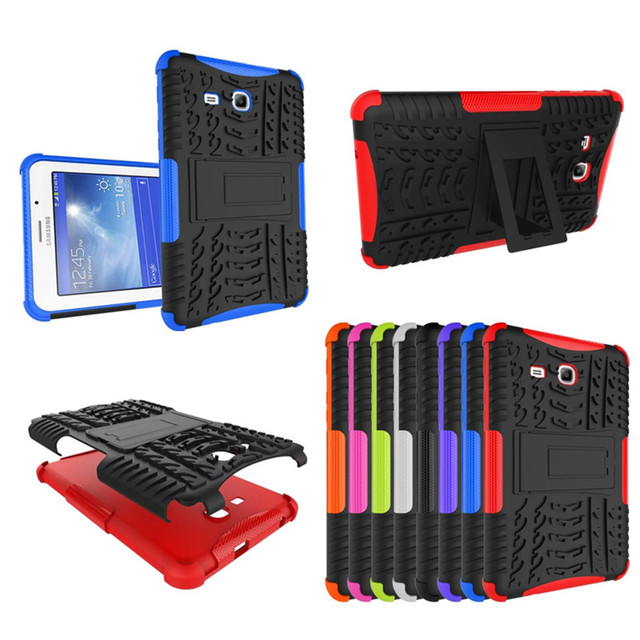 HH  Hybrid PC+TPU Armor Hard Back With Stand Tablet Case For Samsung Galaxy Tab 3 Lite 7.0 T110 T111 SM-T110 SM-T111