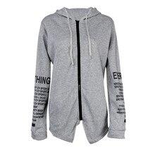 2017New Fashion Lady Knitted Hoody Coat Winter Hoodies Sweatshirt Letter Printing Irregular Lady Warm Hoody Plus Size S-5XL
