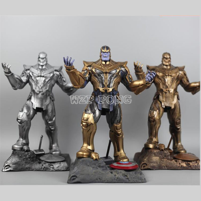 3 Colour 35 CM Resin Bust Thanos Model Avengers 3 Avengers: Infinity War - Part I /II Collection Statue Thanos Action Figure [funny] hot infinity gauntlet thanos gem gloves model avengers infinity war action figure toy resin decoration collection model