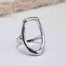 Silvology 925 Sterling Silver Irregular Rings Minimalist Openwork Glossy Western Style Female  Fashionable Jewelry