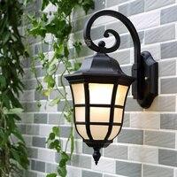 E27 Wysoka Europejski Styl Wodoodporna Willa Ogród Ściana Światło Rozpylanie Wygładzanie Czarny Ganek Światła Lampy Oświetlenie Zewnętrzne Ściany