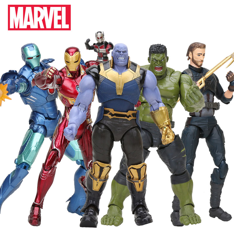 18cm Marvel Toys Thanos PVC Action Figure the Avengers 3 INFINITY WAR Figure Collectible Model Dolls Toy Moveable Figurine(China)