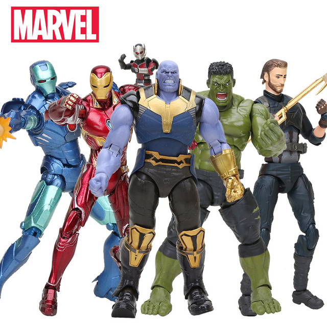 18cm Thanos Maravilha Brinquedos PVC Action Figure the Avengers 3 INFINITO GUERRA Figura Collectible Modelo Toy Dolls Moveable Estatueta