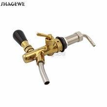 Golden Plating Beer Faucet Adjustable Tap Flow Control 73mm Long Shank Home brew Keg Dispenser