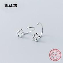 INALS Hot New Flower Shape Ear Studs Women's Jewelry 925 Sterling Silver Earrings Women