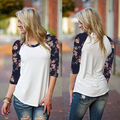 Fashion Womens Long Sleeve Shirt Casual Lace Blouse Loose Cotton Tops Shirt