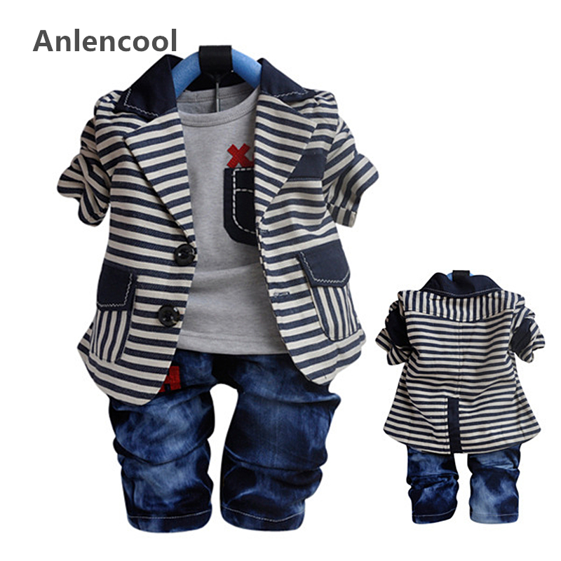 ФОТО Anlencool Free shipping baby boy Autumn Valley small bar suits complement baby clothing boy's clothing set brand