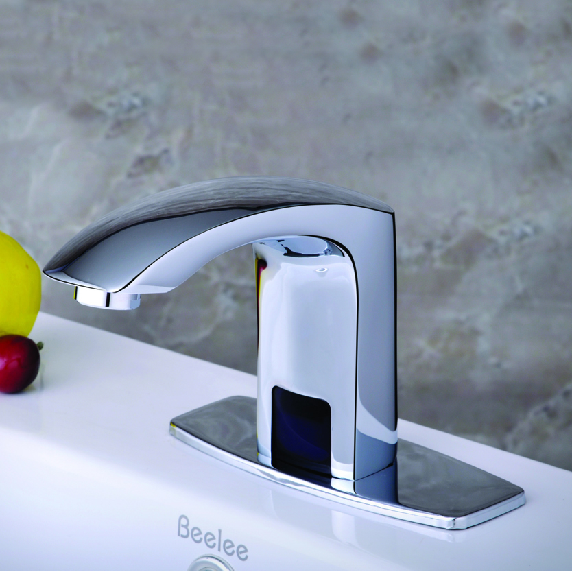 цена Beelee Bathroom Lavatory Auto Water Mixer Touchless Electronic Automatic Sensor Faucets,hotel and medical faucet tap