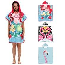 Детское банное полотенце из хлопка, детский банный халат с милыми рисунками из мультфильмов, мягкая накидка с капюшоном, банный халат, одеяло, детское банное полотенце для малышей