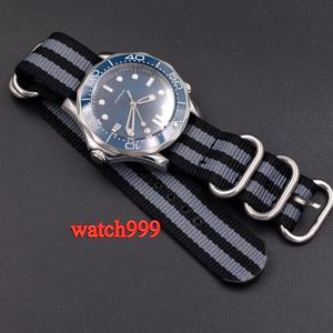 Image 5 - 41mm BLIGER שעון גברים סטרילי חיוג זוהר קרמיקה לוח מוצקה 316L מקרה ספיר קריסטל ניילון רצועה אוטומטי גברים של שעון