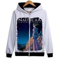 Miyazaki Hayao Anime hoodie Classic Comic Nausicaa of the Valley of the Wind hoodie sweatershirt jacket coat Hooded Outerwear