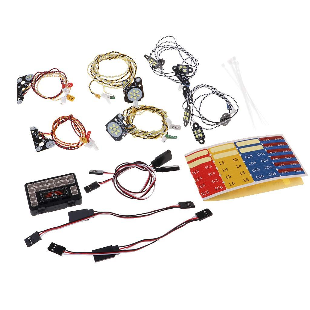 Bricolage RC voiture LED lumières lampe phare pièces accessoires décoration pour télécommande 1/10 escalade voiture camion Traxxas Trx4 TR4