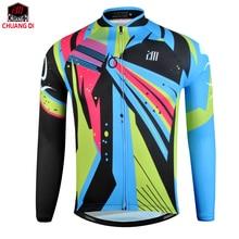 634e4bf65b Chuangdi hombres otoño deportes Ciclismo Jersey bike Bicicletas Correr manga  larga MTB Jersey mountain bike ropa Camisas desgast.