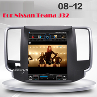 Vertical screen Quad core Android 1024*600 9.7inch Car GPS Navigation for Nissan teana J32 2008 2012