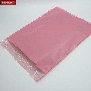 Image 4 - 100x logo Bedruckte Baby Rosa Farbe Schulranzen Post Taschen Poly Mailing Taschen für Kleidung Shop Verschiffen Einkaufen