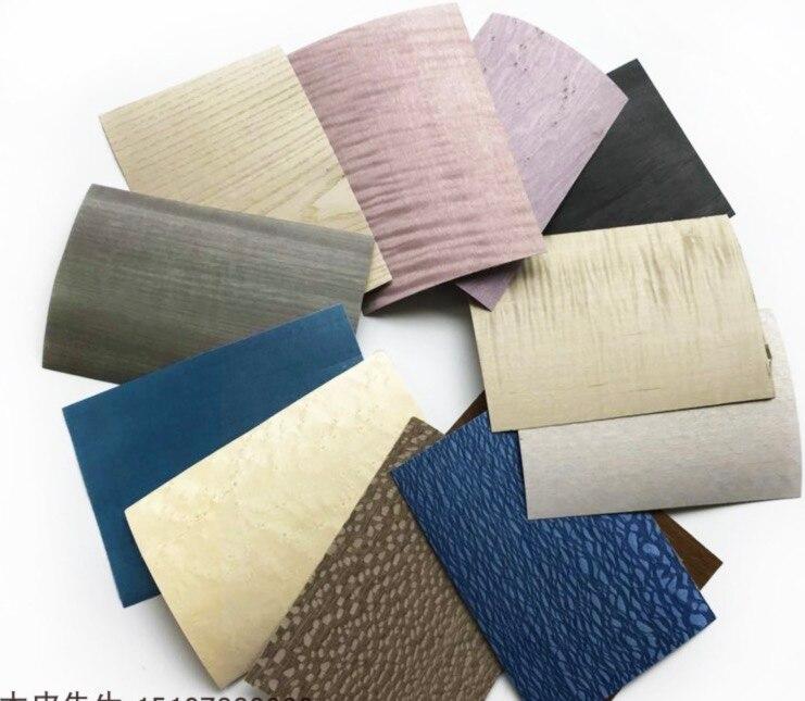 48 pièces/ensemble (différence) échantillon de placage teint 2019 nouvelle édition ameublement peau de bois haut de gamme
